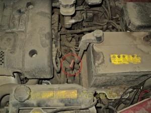 Щуп в автоматической коробке передач на автомобиле Hyundai Matrix (Хендай Матрикс).