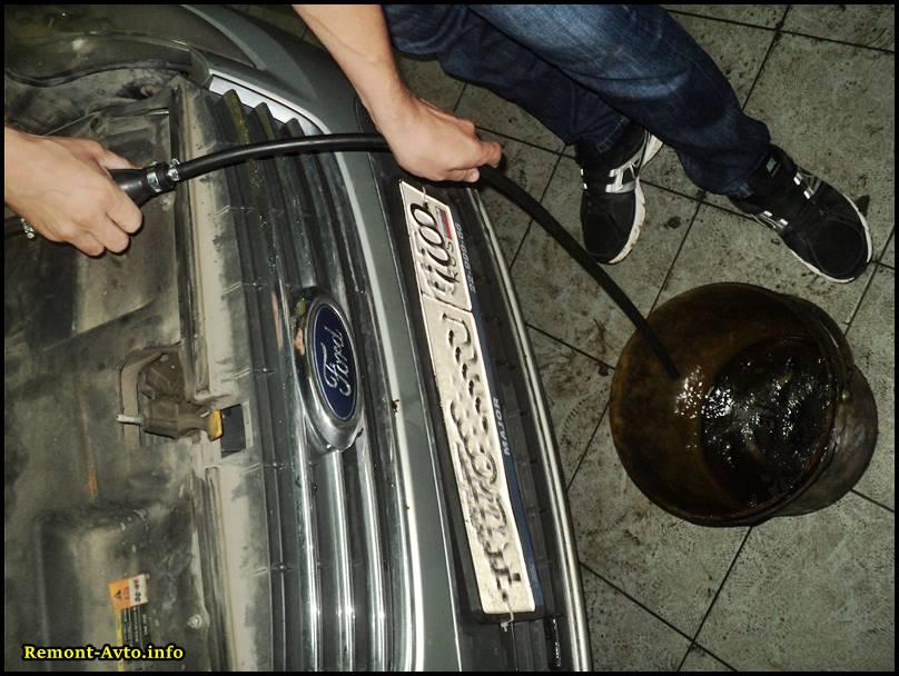 откачка воздуха из системы дизельного мотора форд мондео 4