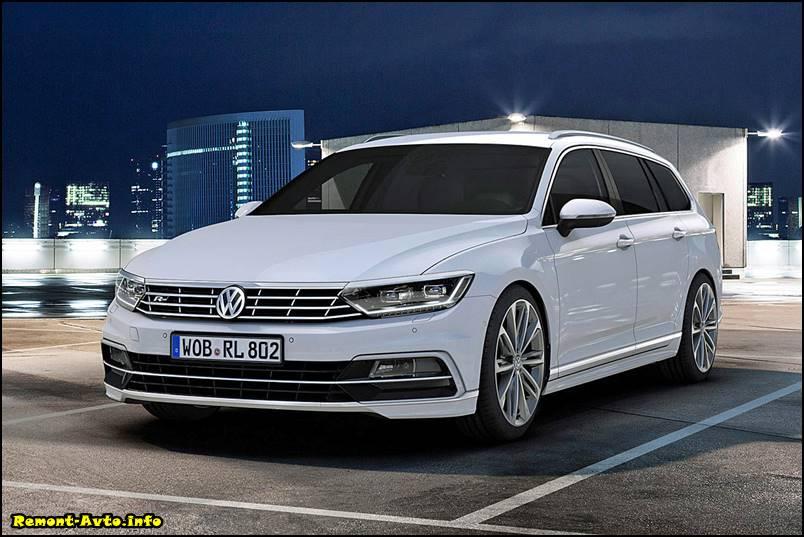 начало продаж в России нового - Volkswagen Passat B8