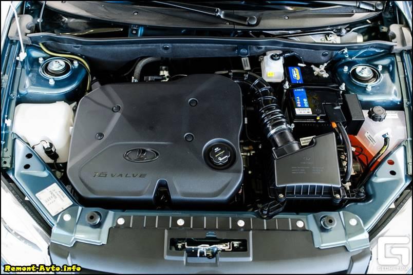 Лада Гранта лифтбек (2015 - 2016) фото двигатель