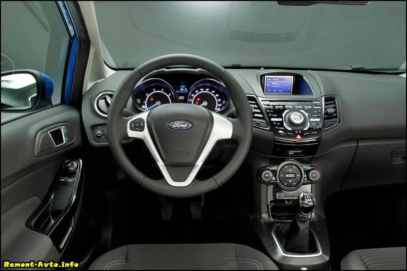 Форд Фиеста 6 поколения (2015-2016) цена и комплектация, фото салона