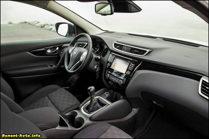 Nissan Qashqai в новом кузове 2015/2016 года фото салона