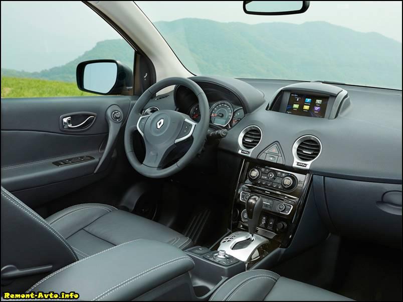 Рено колеос (2015-2016) в новом кузове, комплектации и цены, фото салона