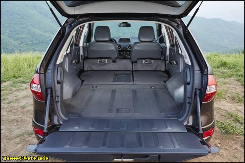 Рено колеос (2015-2016) в новом кузове, комплектации и цены, фото багажника