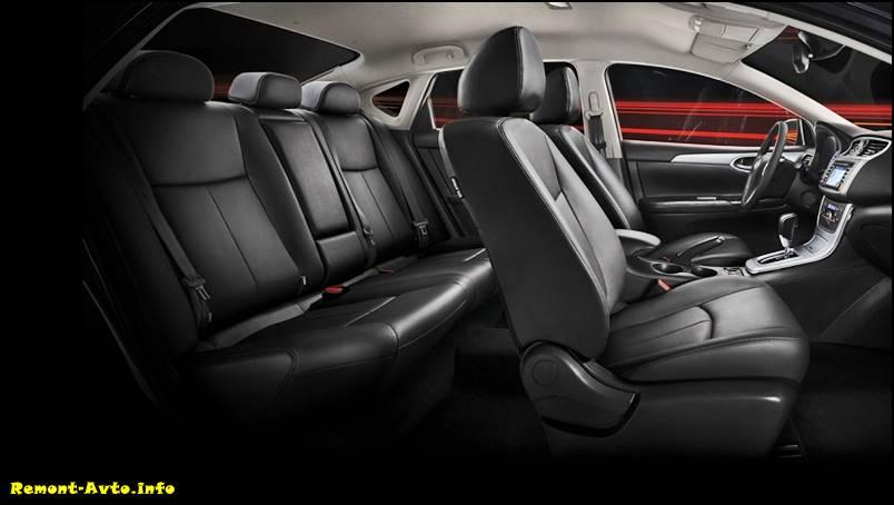 Nissan Sentra 2015-2016 фото салона автомобиля
