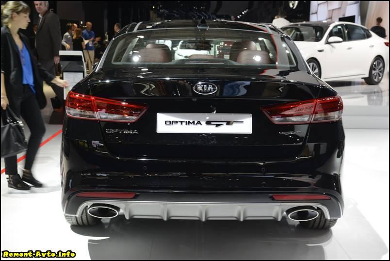 Киа Оптима 2016 года в новом кузове фото GT версии задняя часть