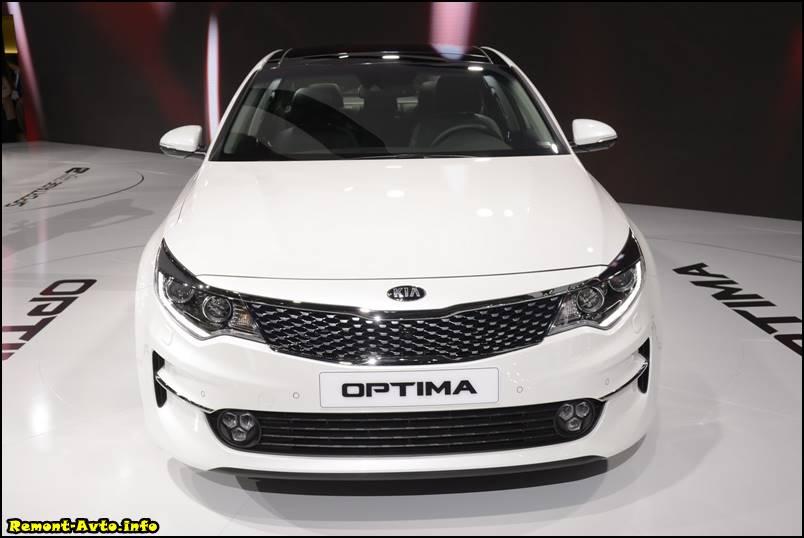 Киа Оптима 2016 года в новом кузове фото перед