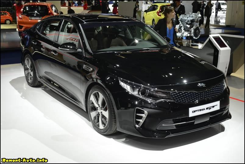 Киа Оптима 2016 года в новом кузове фото GT версии