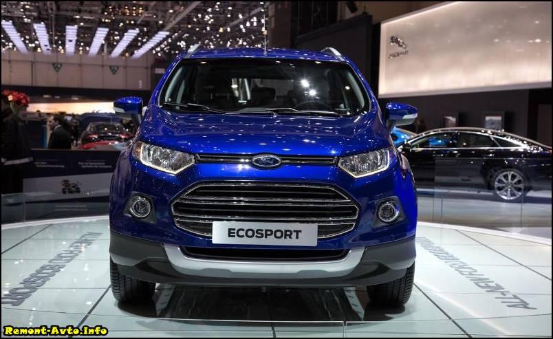 Форд Экоспорт 2015-2016 года в новом кузове фото спереди
