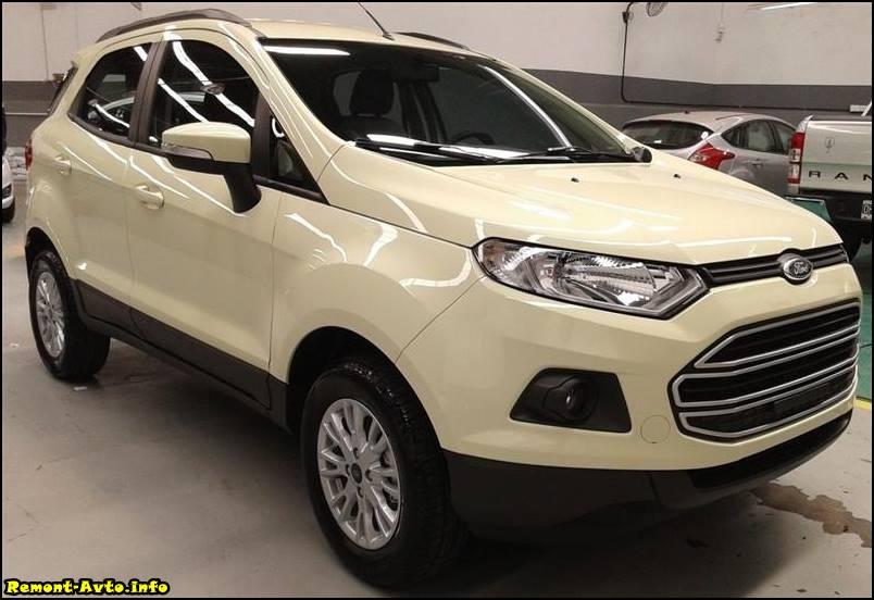 Ford EcoSport (2015-2016) фото белый цвет