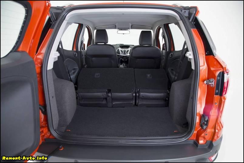 Новый Форд Экоспорт (2015-2016) фото багажника