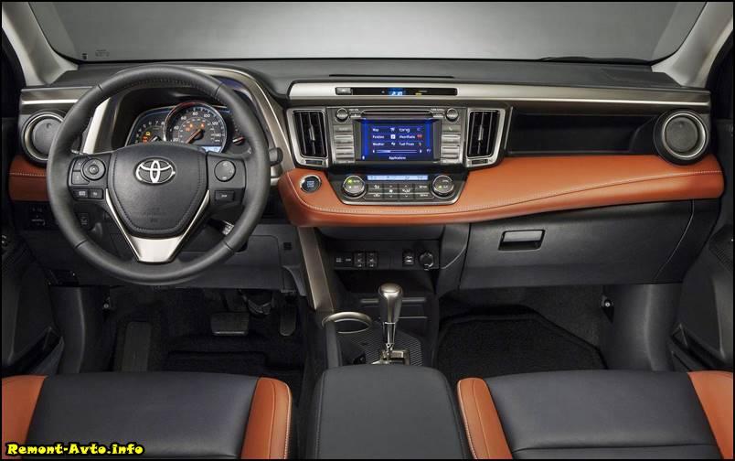 Обновленный Тойота Рав 4, 2015-2016 года фото салона