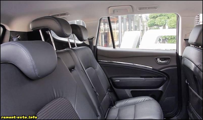 Лифан Х80 (2015-2016) в новом кузове фото салона задние сидения