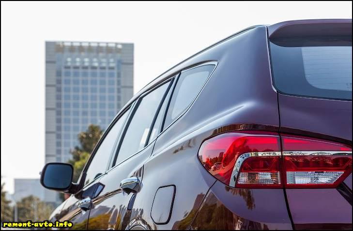 Лифан Х80 (2015-2016) в новом кузове стоп сигналы