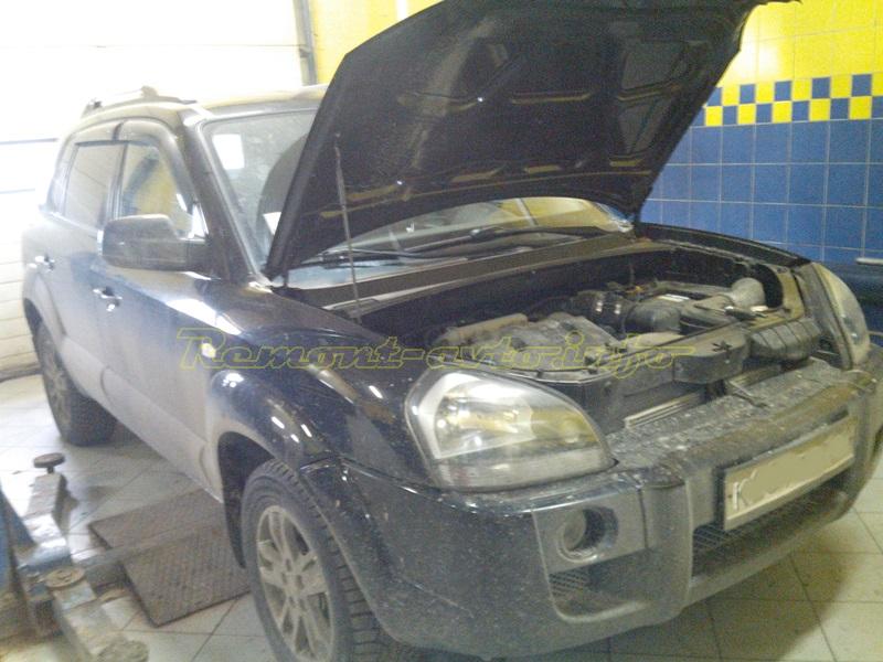 Замена ремня ГРМ Hyundai Tucson (Хендай Туссан) с мотором 2,7 л, V6
